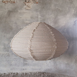 Lino Fringed Shade - Natural