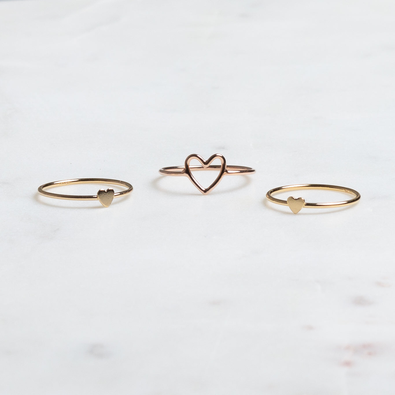 Rose Gold Lead with Love Ring
