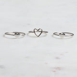 Silver Lead with Love Ring