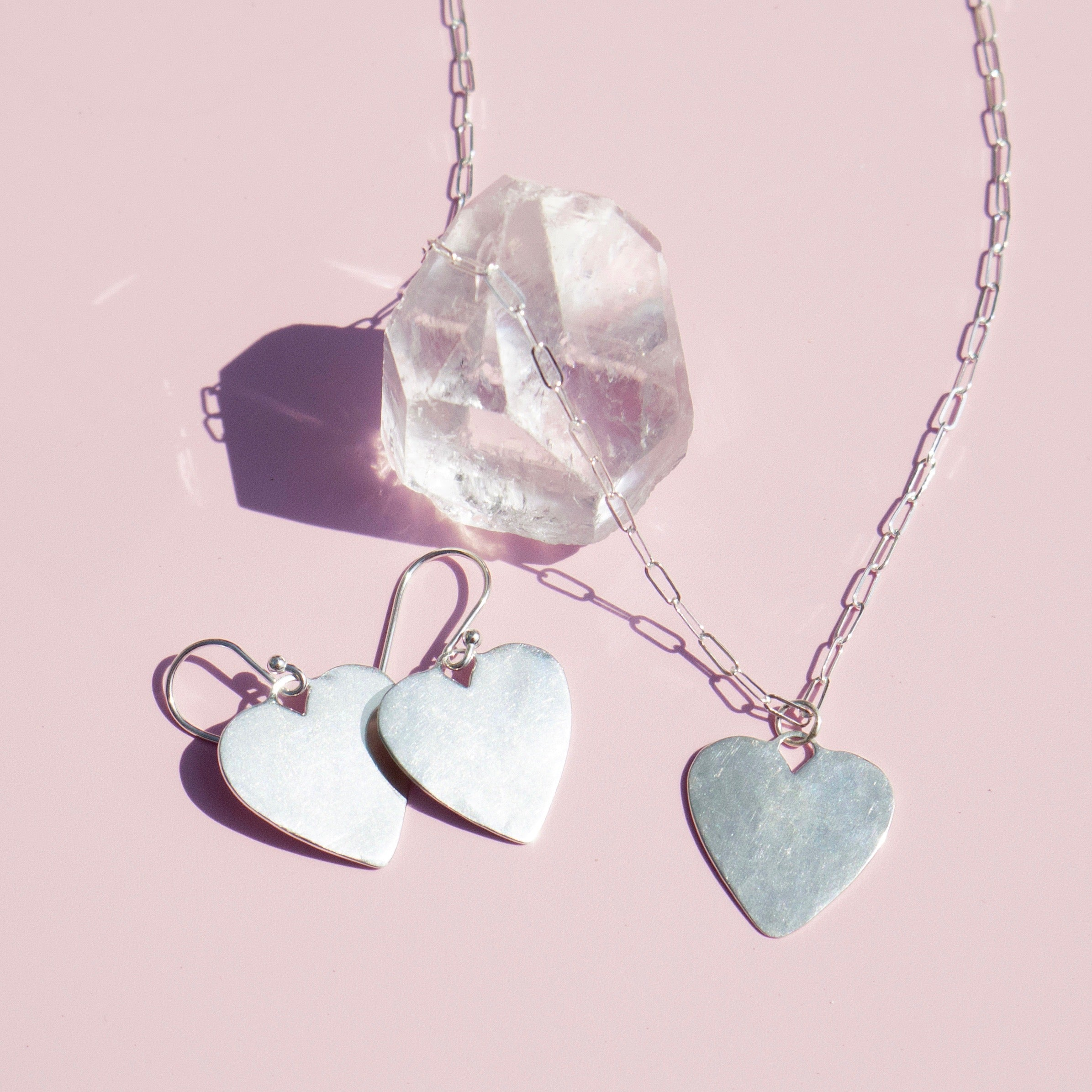 Silver Charming Heart Necklace