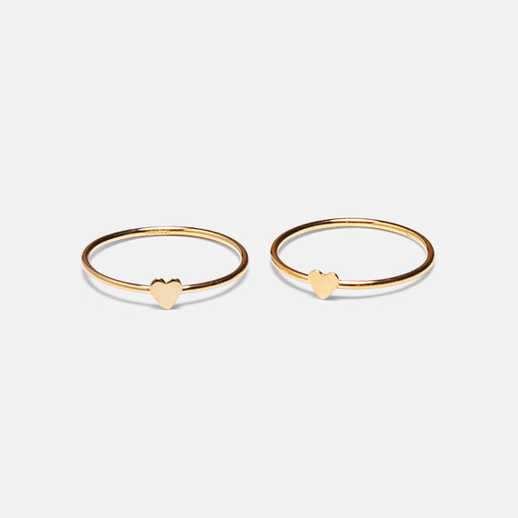 Gold Love Stack Ring