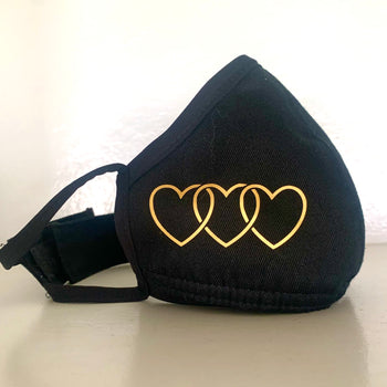 Protective Love Mask in Black