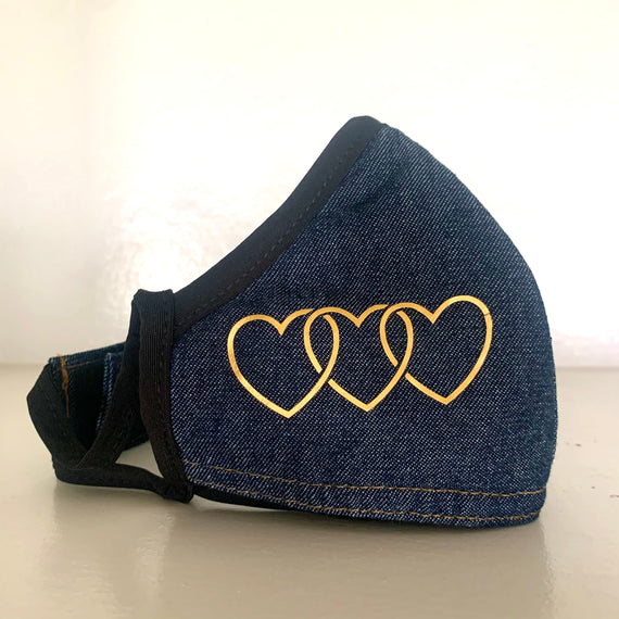 Protective Love Mask in Denim