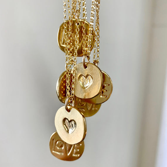 Gold Love Pendant