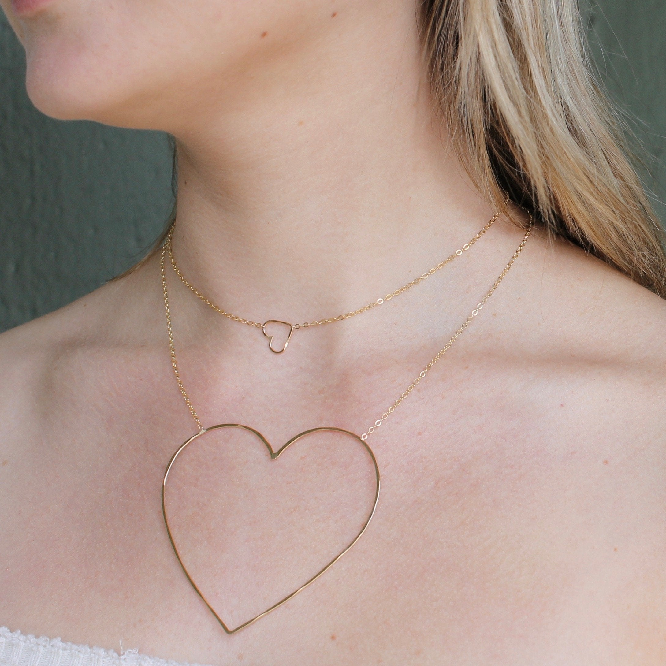 Heart of Gold Necklace Set