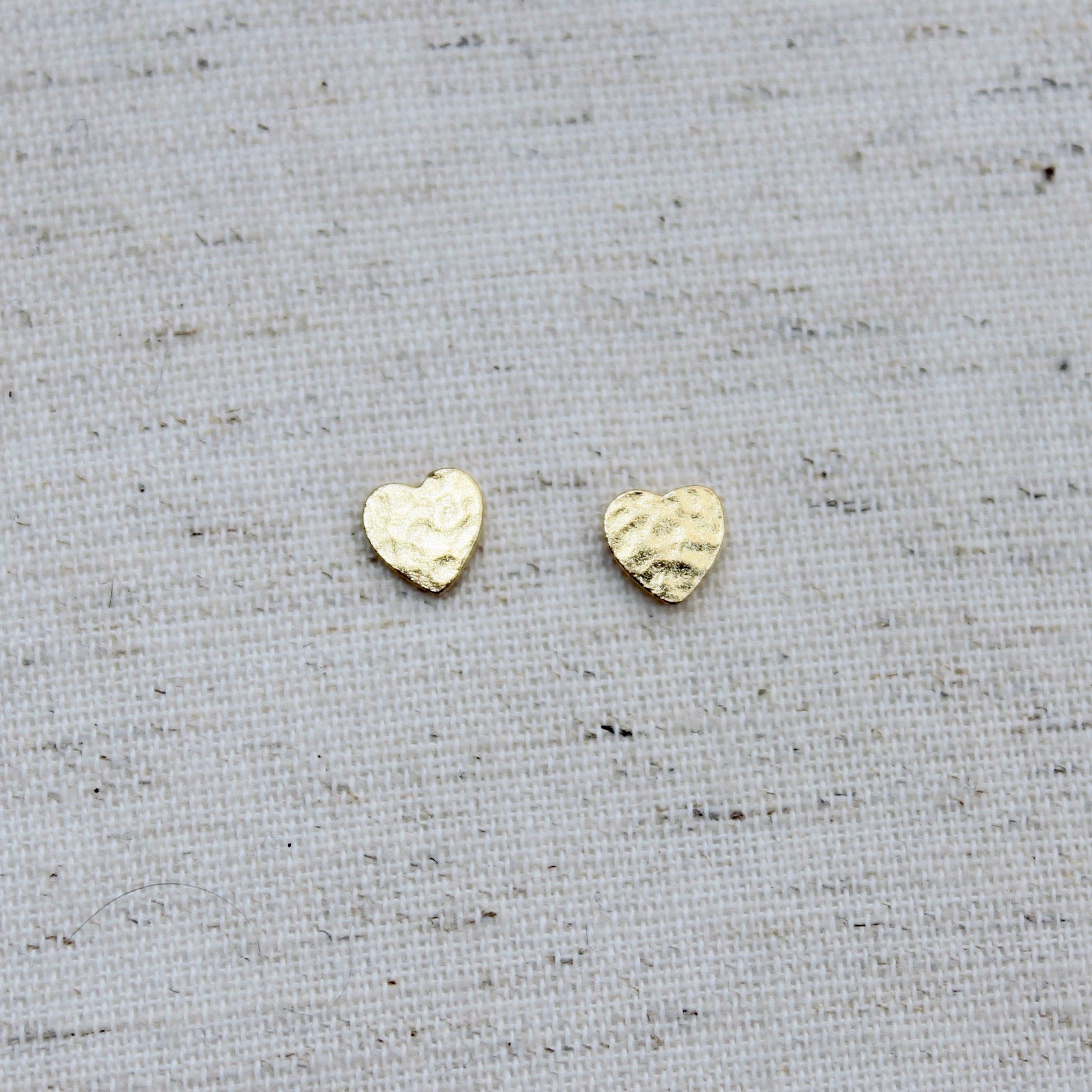 Mini Gold Heart Studs