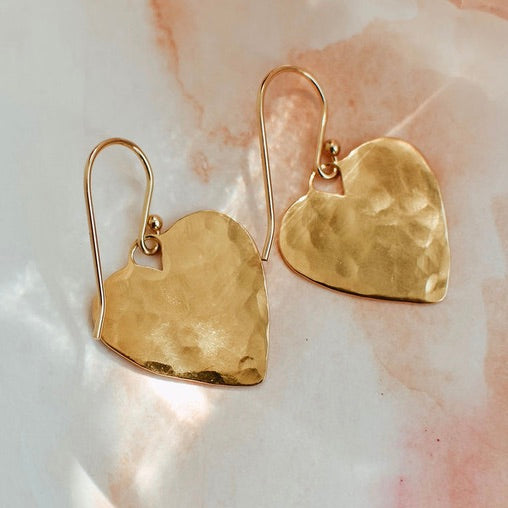 Gold Charming Heart Earrings