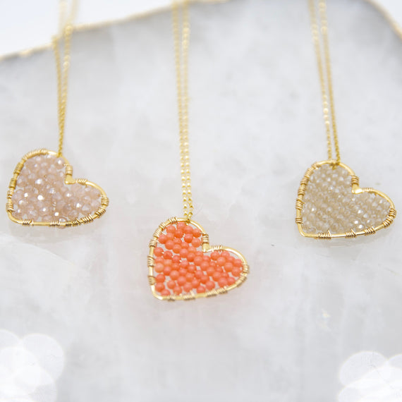 Gold Love Drop in Blush