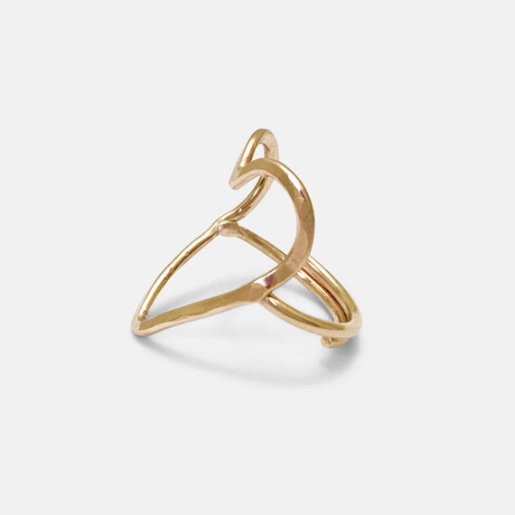 Gold Open Heart Ring