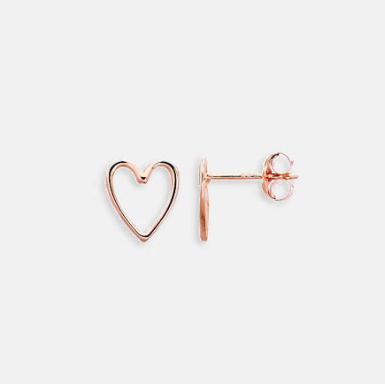 Rose Gold Open Heart Studs