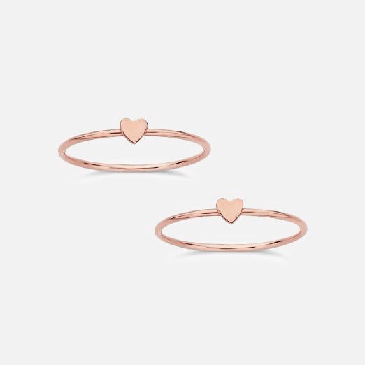 Rose Gold Love Stack Ring
