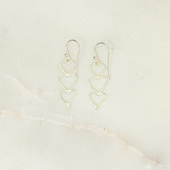 Silver Mantra Earrings