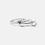 Silver Love Stack Ring