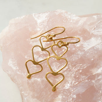 Gold Mantra Earrings