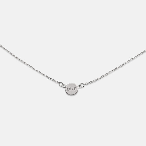 Silver Love Dot Necklace