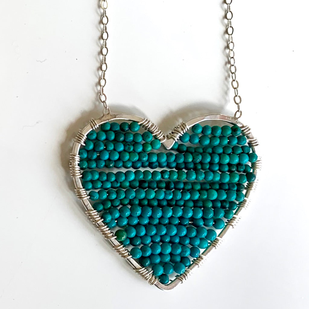 Silver Luminous in Turquoise