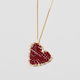 Gold Love Drop in Garnet