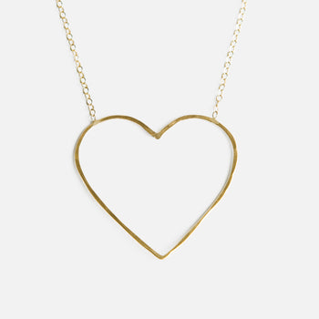 heart of gold petite heart necklace