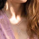 Silver Mantra Necklace