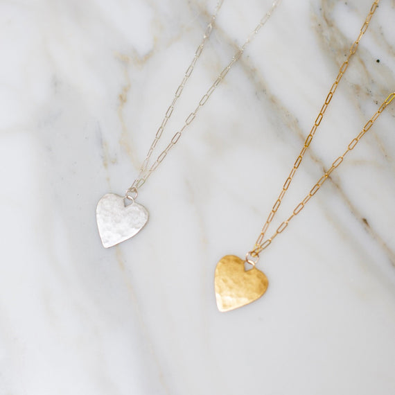 Gold Charming Heart Necklace