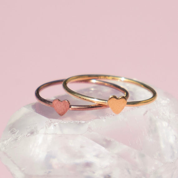 Gold Love Stack Rings Set of Two