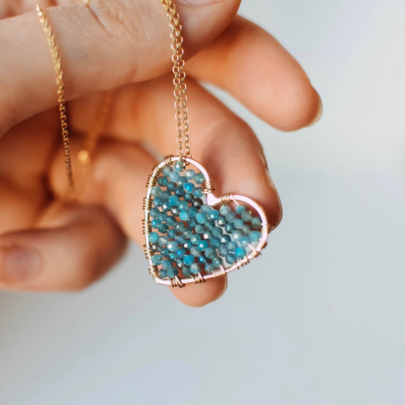 Gold Love Drop in Apatite