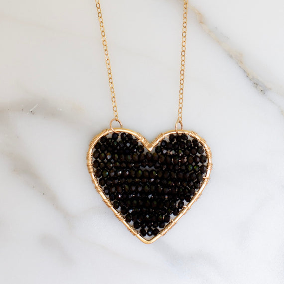 Gold Luminous Love in Jet Black