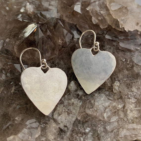 Silver Charming Heart Earrings