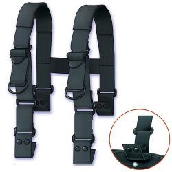 Padded H-Back Ripcord Suspenders