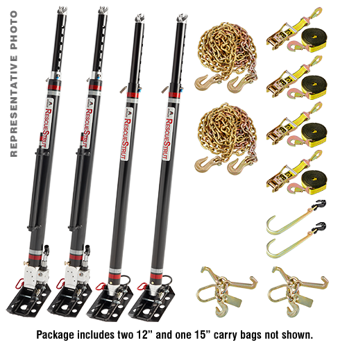 Full Set of Vehicle Stabilization Struts (2 15