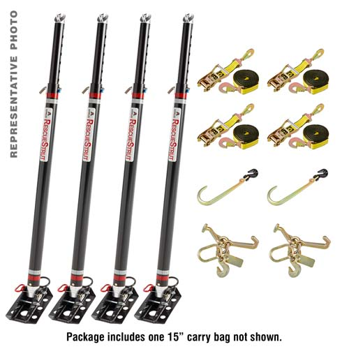 Full Set of Telescoping Vehicle Stabilization Struts with Accessories