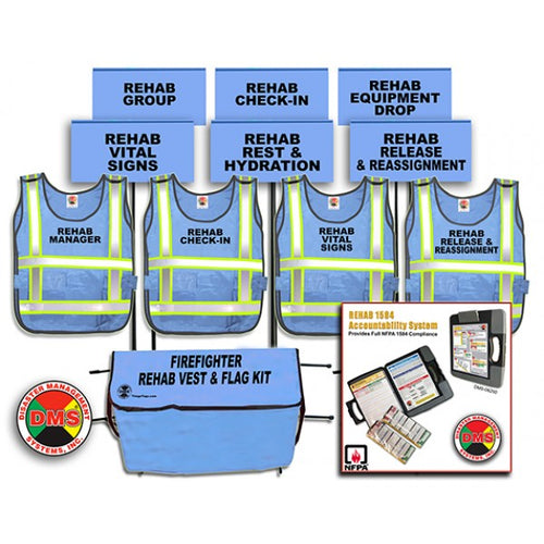 Fire REHAB Accountability System + REHAB Area Vest and Flag Kit