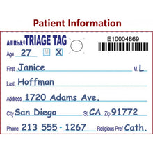 Load image into Gallery viewer, All Risk® Triage Tags w/ Patient Wristband