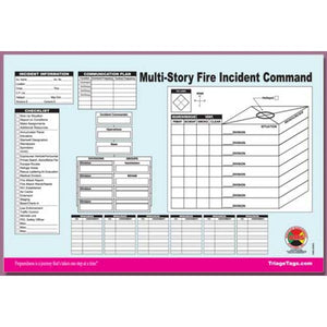 Multi-Story Structure Incident Command Worksheet Pad