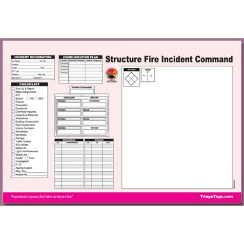 Structure Fire Incident Command Worksheet Pad