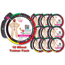 Load image into Gallery viewer, START Triage Trainer Wheel 10 Pk