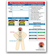 Load image into Gallery viewer, Mass Casualty Incident Command Worksheet Pad