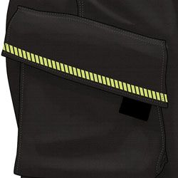Angled Side Pockets with Grip Tabs