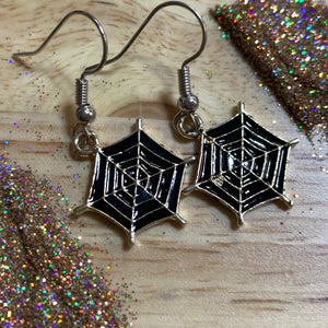 Midnight Webs *Dangle Earrings*