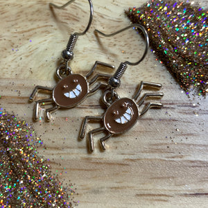 Creepy Crawly (brown) *Dangle Earrings*