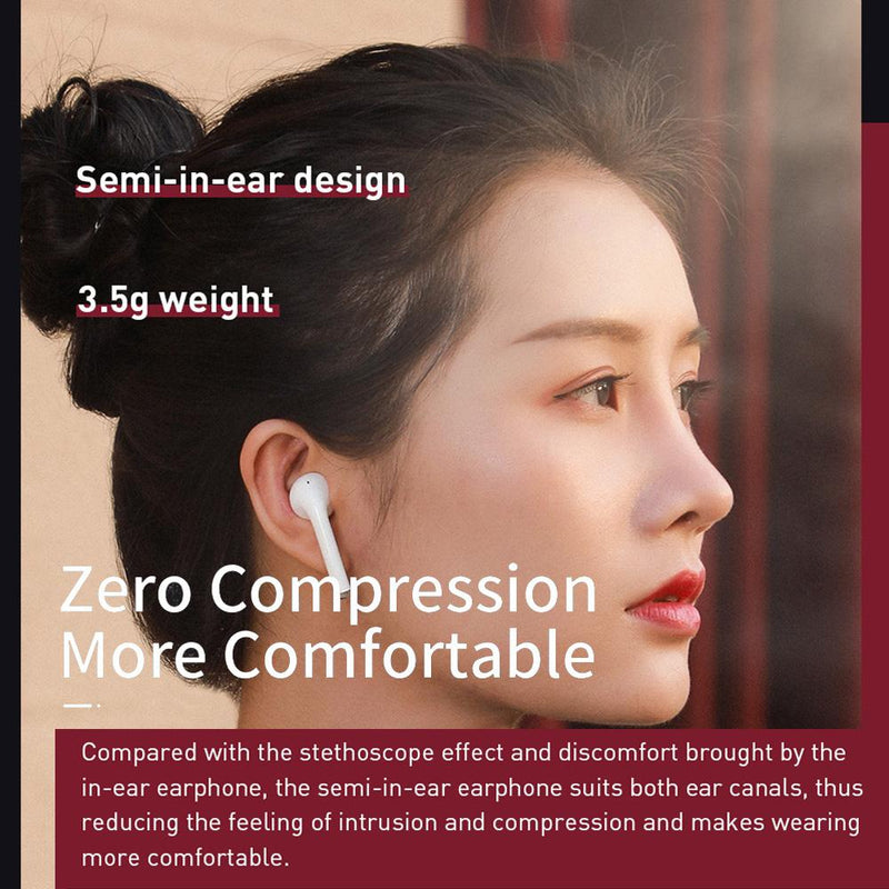Baseus Encok W04 TWS Wireless Earbuds bluetooth 5.0 Earphone Touch Control Bass Stereo Hands Free Headphone