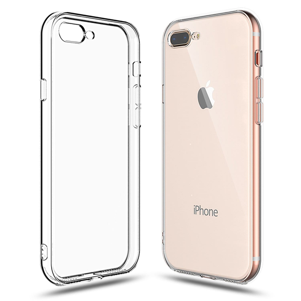 Soft Silicone Rubber Case - Clear for iPhone 7 Plus/8 Plus