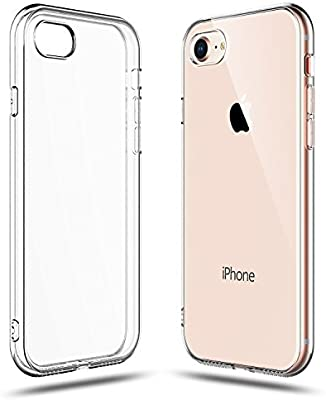 Soft Silicone Rubber Case - Clear for iPhone SE/7/8