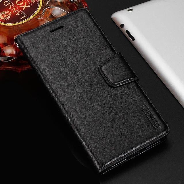 HANMAN Magnetic Wallet Leather Card Flip Case Stand Cover For Google Pixel 4