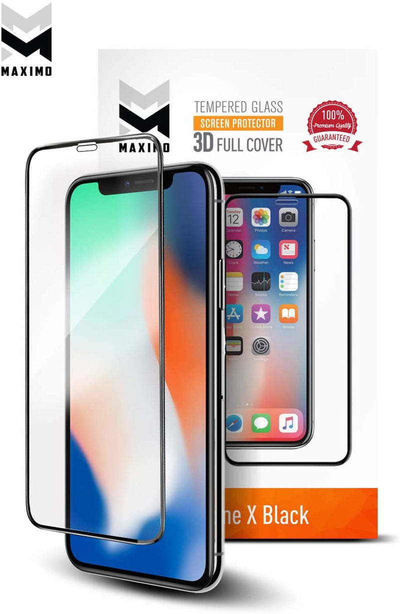 MAXIMO tempered glass screen protector 3D full cover for iPhone Xs Max/11 Pro Max