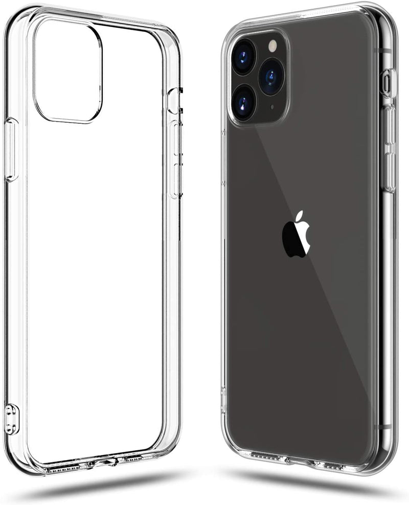 Soft Silicone Rubber Case - Clear for iPhone 12/12 Pro