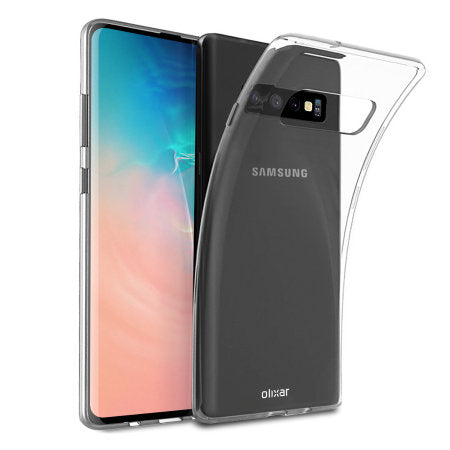 Soft Silicone Rubber Case - Clear for Samsung Galaxy S10