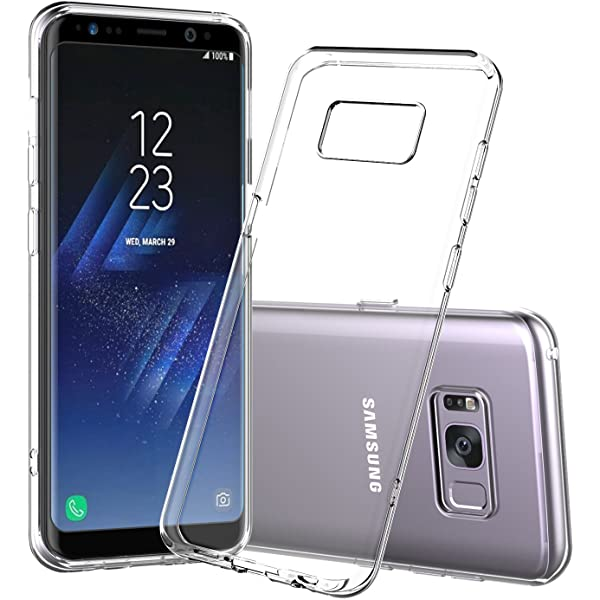 Soft Silicone Rubber Case - Clear for Samsung Galaxy S8+