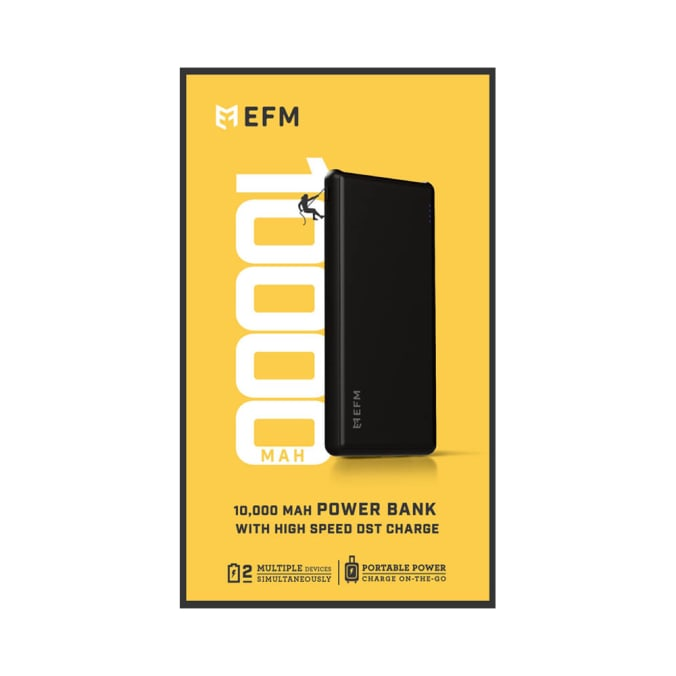 EFM 10000mAh Power Bank With Micro-USB Cable