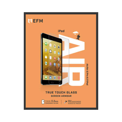 "EFM GT True Touch Glass Screen Guard (SINGLE PACK) For iPad 9.7""/Pro 9.7"" (2017/2018)"